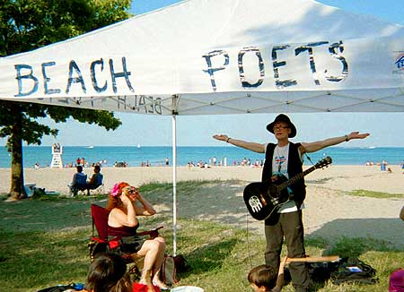 Michael Dean Odin Pollock at Beach Poets in 2006. - Click Here For More Info On Beach Poets 2008 Season!