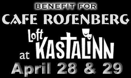Cafe Rosenberg benefit concerts at The Loftkastalinn Theatre in Reykjavik on April 28th and 29th!
