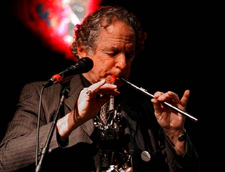 "The Grand Pied Piper himself, David Amram, sends out a Big Happy 40Birthday! to Sesame Street! - Click Here To Read David's B-Day Blast ""Sesame Street turns 40!"" - Photo by Jeremy Hogan."