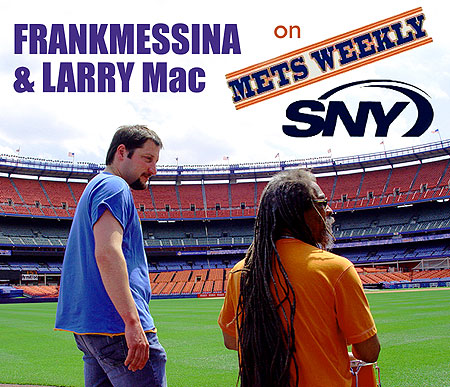 Frank Messina and Larry McDonald slinging Sooth at Shea! Click Here for more Messina, The Mets and Everything Poetry!