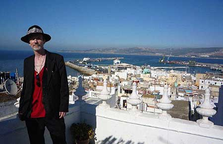 Michael Dean Odin Pollock at Hotel El Muneria, William S. Burroughs old Moroccan residence in Tangiers. - Click Here To Read his Joujouka Reflect. - Photo by Daragh McCarthy.